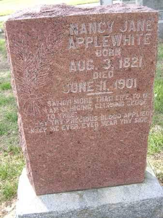 MCFERRIN APPLEWHITE, NANCY JANE - Cross County, Arkansas | NANCY JANE MCFERRIN APPLEWHITE - Arkansas Gravestone Photos
