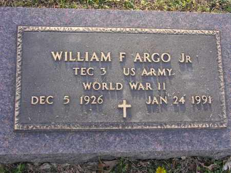 ARGO, JR (VETERAN WWII), WILLIAM F - Cross County, Arkansas | WILLIAM F ARGO, JR (VETERAN WWII) - Arkansas Gravestone Photos