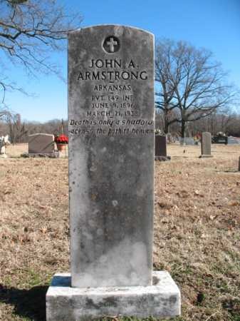 ARMSTRONG (VETERAN), JOHN A - Cross County, Arkansas | JOHN A ARMSTRONG (VETERAN) - Arkansas Gravestone Photos