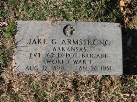 ARMSTRONG (VETERAN WWI), JAKE G - Cross County, Arkansas | JAKE G ARMSTRONG (VETERAN WWI) - Arkansas Gravestone Photos