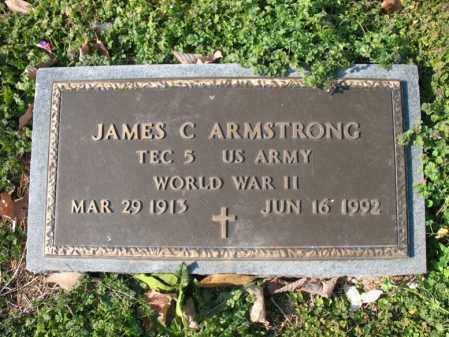 ARMSTRONG (VETERAN WWII), JAMES C - Cross County, Arkansas | JAMES C ARMSTRONG (VETERAN WWII) - Arkansas Gravestone Photos