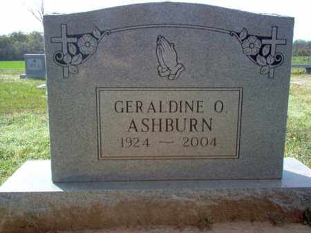 ASHBURN, GERALDINE O - Cross County, Arkansas | GERALDINE O ASHBURN - Arkansas Gravestone Photos