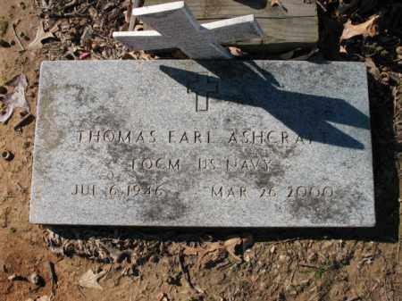 ASHCRAFT (VETERAN), THOMAS EARL - Cross County, Arkansas | THOMAS EARL ASHCRAFT (VETERAN) - Arkansas Gravestone Photos