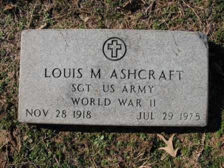 ASHCRAFT (VETERAN WWII), LOUIS M - Cross County, Arkansas | LOUIS M ASHCRAFT (VETERAN WWII) - Arkansas Gravestone Photos
