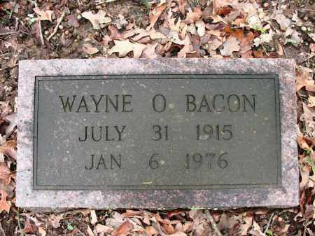 BACON, WAYNE O. - Cross County, Arkansas | WAYNE O. BACON - Arkansas Gravestone Photos