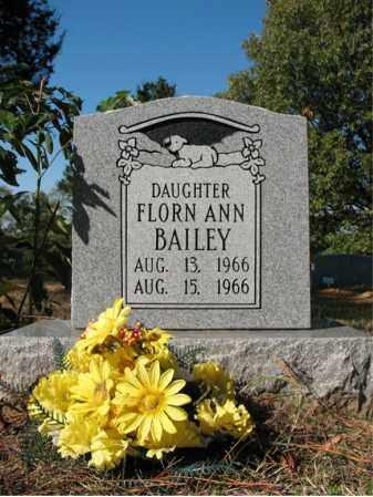 BAILEY, FLORN ANN - Cross County, Arkansas | FLORN ANN BAILEY - Arkansas Gravestone Photos