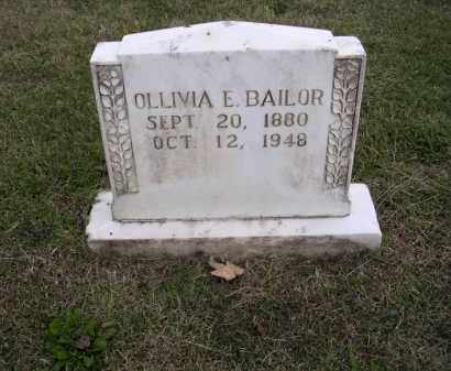 BAILOR, OLLIVIA E - Cross County, Arkansas | OLLIVIA E BAILOR - Arkansas Gravestone Photos