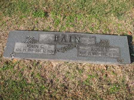 BAIN, JOHN G - Cross County, Arkansas | JOHN G BAIN - Arkansas Gravestone Photos