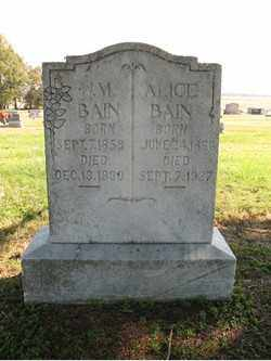 BAIN, W M - Cross County, Arkansas | W M BAIN - Arkansas Gravestone Photos