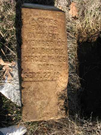 BAKER, AGNES - Cross County, Arkansas | AGNES BAKER - Arkansas Gravestone Photos
