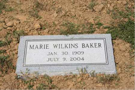 WILKINS BAKER, MARIE - Cross County, Arkansas | MARIE WILKINS BAKER - Arkansas Gravestone Photos