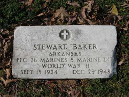 BAKER (VETERAN WWII), STEWART - Cross County, Arkansas | STEWART BAKER (VETERAN WWII) - Arkansas Gravestone Photos