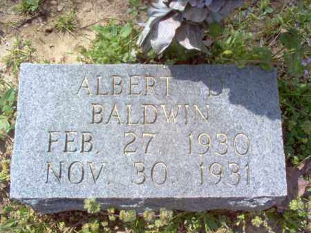 BALDWIN, ALBERT D - Cross County, Arkansas | ALBERT D BALDWIN - Arkansas Gravestone Photos