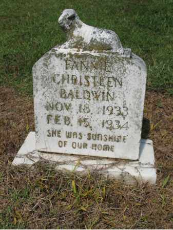 BALDWIN, FANNIE CHRISTEEN - Cross County, Arkansas | FANNIE CHRISTEEN BALDWIN - Arkansas Gravestone Photos