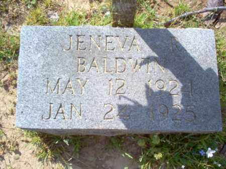 BALDWIN, JENEVA R - Cross County, Arkansas | JENEVA R BALDWIN - Arkansas Gravestone Photos