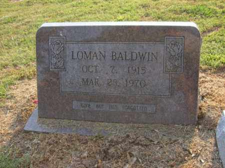 BALDWIN, LOMAN - Cross County, Arkansas | LOMAN BALDWIN - Arkansas Gravestone Photos
