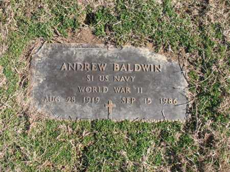 BALDWIN (VETERAN WWII), ANDREW - Cross County, Arkansas | ANDREW BALDWIN (VETERAN WWII) - Arkansas Gravestone Photos