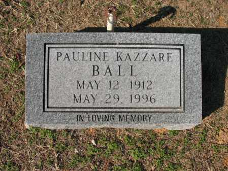 KAZZARE BALL, PAULINE - Cross County, Arkansas | PAULINE KAZZARE BALL - Arkansas Gravestone Photos
