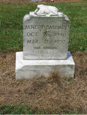 BALLARD, JANETT - Cross County, Arkansas | JANETT BALLARD - Arkansas Gravestone Photos