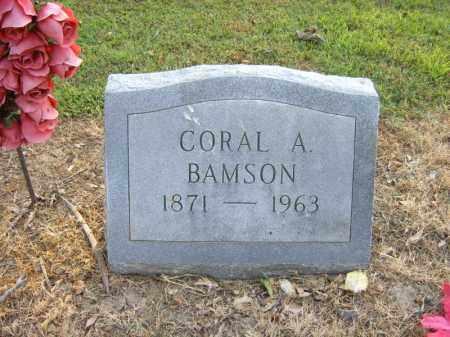 BAMSON, CORAL A - Cross County, Arkansas | CORAL A BAMSON - Arkansas Gravestone Photos