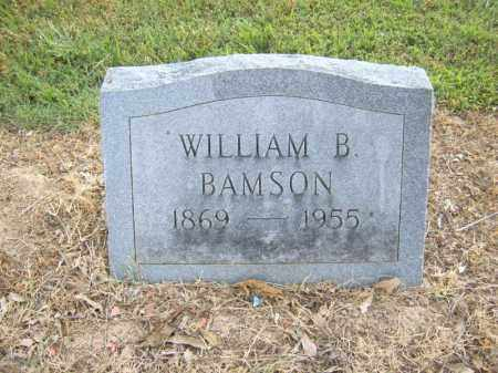 BAMSON, WILLIAM B - Cross County, Arkansas | WILLIAM B BAMSON - Arkansas Gravestone Photos