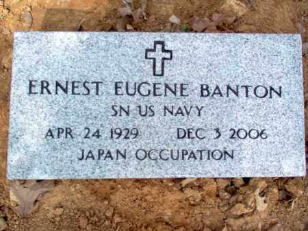BANTON  (VETERAN), ERNEST EUGENE - Cross County, Arkansas | ERNEST EUGENE BANTON  (VETERAN) - Arkansas Gravestone Photos