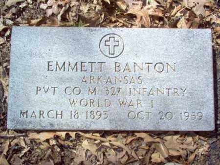 BANTON  (VETERAN WWI), EMMETT - Cross County, Arkansas | EMMETT BANTON  (VETERAN WWI) - Arkansas Gravestone Photos