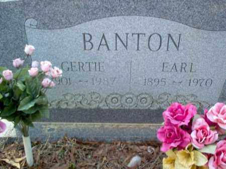 BANTON, GERTIE - Cross County, Arkansas | GERTIE BANTON - Arkansas Gravestone Photos