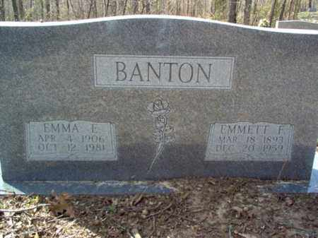 BANTON, EMMETT F. - Cross County, Arkansas | EMMETT F. BANTON - Arkansas Gravestone Photos