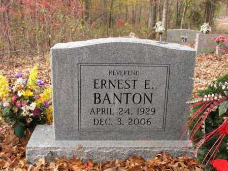 BANTON, ERNEST E. - Cross County, Arkansas | ERNEST E. BANTON - Arkansas Gravestone Photos