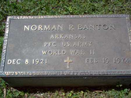 BANTON (VETERAN WWII), NORMAN R - Cross County, Arkansas | NORMAN R BANTON (VETERAN WWII) - Arkansas Gravestone Photos