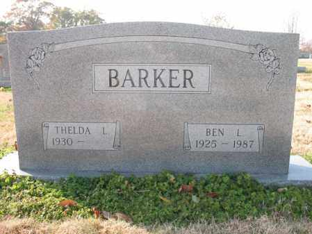 BARKER, BEN L - Cross County, Arkansas | BEN L BARKER - Arkansas Gravestone Photos