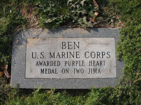 BARKER (VETERAN WWII), BEN L - Cross County, Arkansas | BEN L BARKER (VETERAN WWII) - Arkansas Gravestone Photos