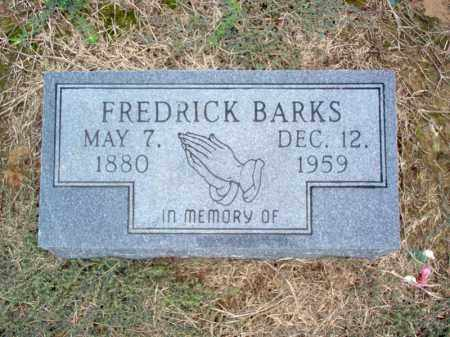 BARKS, FREDRICK - Cross County, Arkansas | FREDRICK BARKS - Arkansas Gravestone Photos