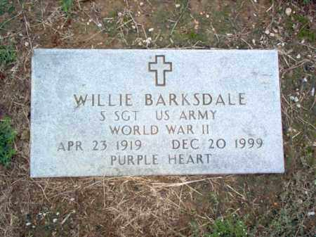 BARKSDALE (VETERAN WWII), WILLIE W - Cross County, Arkansas | WILLIE W BARKSDALE (VETERAN WWII) - Arkansas Gravestone Photos