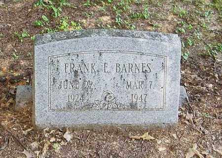 BARNES, FRANK E. - Cross County, Arkansas | FRANK E. BARNES - Arkansas Gravestone Photos