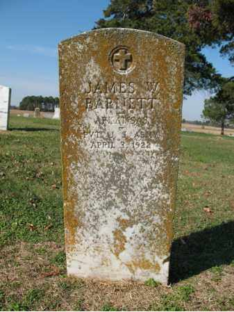 BARNETT (VETERAN), JAMES W - Cross County, Arkansas | JAMES W BARNETT (VETERAN) - Arkansas Gravestone Photos