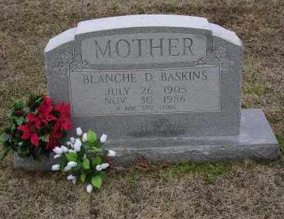BASKINS, BLANCHE D - Cross County, Arkansas | BLANCHE D BASKINS - Arkansas Gravestone Photos