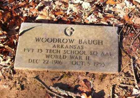 BAUGH  (VETERAN WWII), WOODROW - Cross County, Arkansas | WOODROW BAUGH  (VETERAN WWII) - Arkansas Gravestone Photos