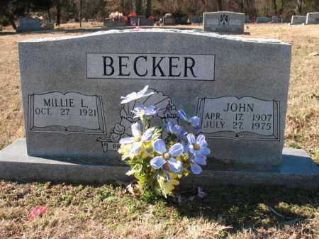 BECKER, JOHN - Cross County, Arkansas | JOHN BECKER - Arkansas Gravestone Photos