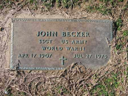 BECKER (VETERAN WWII), JOHN - Cross County, Arkansas | JOHN BECKER (VETERAN WWII) - Arkansas Gravestone Photos