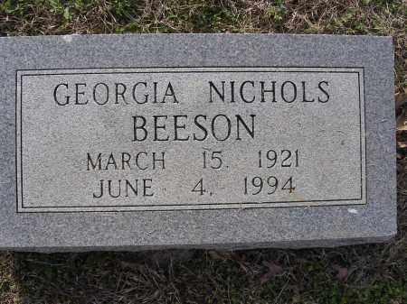 NICHOLS BEESON, GEORGIA - Cross County, Arkansas | GEORGIA NICHOLS BEESON - Arkansas Gravestone Photos