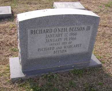 BEESON III, RICHARD O'NEIL - Cross County, Arkansas | RICHARD O'NEIL BEESON III - Arkansas Gravestone Photos