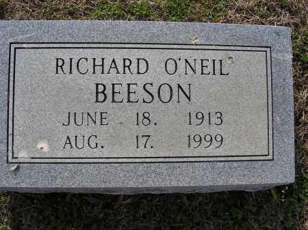 BEESON, RICHARD O'NEIL - Cross County, Arkansas | RICHARD O'NEIL BEESON - Arkansas Gravestone Photos
