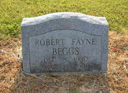 BEGGS, ROBERT FAYNE - Cross County, Arkansas | ROBERT FAYNE BEGGS - Arkansas Gravestone Photos