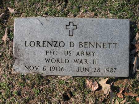 BENNETT (VETERAN WWII), LORENZO D - Cross County, Arkansas | LORENZO D BENNETT (VETERAN WWII) - Arkansas Gravestone Photos