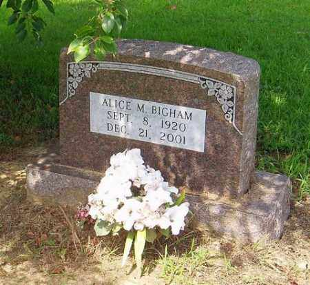 BIGHAM, ALICE M. - Cross County, Arkansas | ALICE M. BIGHAM - Arkansas Gravestone Photos