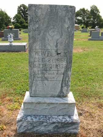 BLACK, W W - Cross County, Arkansas | W W BLACK - Arkansas Gravestone Photos