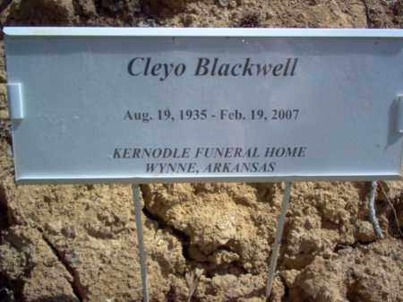 BLACKWELL, CLEYO - Cross County, Arkansas | CLEYO BLACKWELL - Arkansas Gravestone Photos