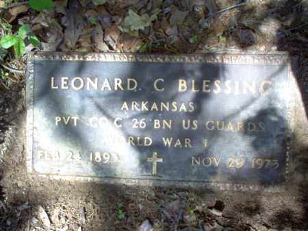 BLESSING (VETERAN WWI), LEONARD C - Cross County, Arkansas | LEONARD C BLESSING (VETERAN WWI) - Arkansas Gravestone Photos